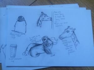 The story of jerry and pole-ette The little Seal-maid Drag Queen Giraffes and Wild Coffee Cups..
