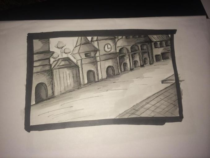 Original Street Sketch