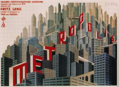 Posters for 'Metropolis' by Fritz Lang