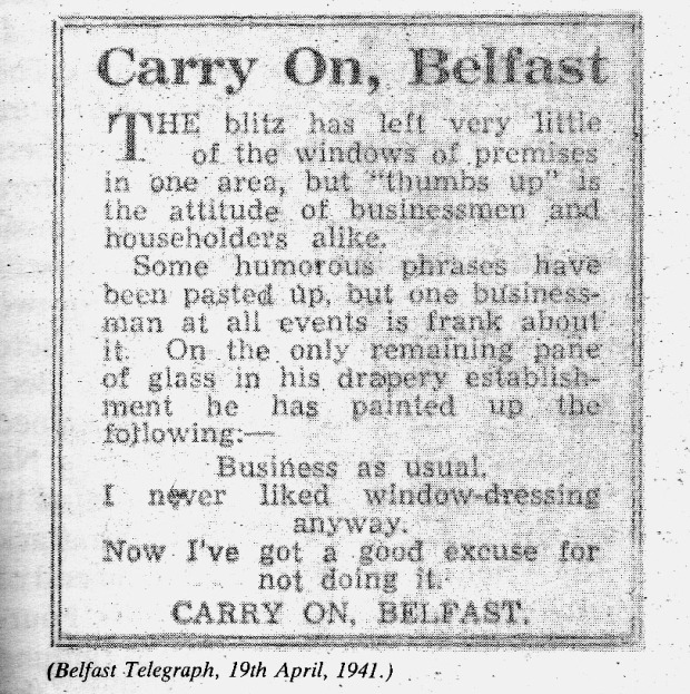 carry on belfast