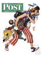"""Rosie to the Rescue""- Saturday Evening Post Cover"